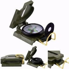 Metal Army Style Pocket Compass Military Camping Hiking Survival FREE SHIP US