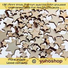 50pcs Star Stars Shape Mini Mixed Small Wooden piece Scrapbook Sky Craft DIY ELF
