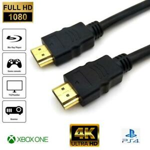 PREMIUM 4K HDMI CABLE 2.0 HIGH SPEED GOLD PLATED EXTENSION LEAD 2160P 3D 2D HDTV