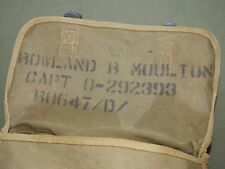 US Army WW2 OFFICER STENCILED M-1936 OD MUSETTE BAG 1944 Vtg Named Carry Pack