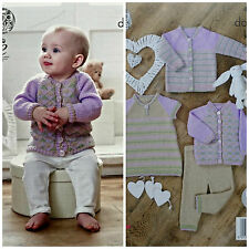 KNITTING PATTERN Baby Leggings Dress & 2 Style Cardigans DK King Cole 4732