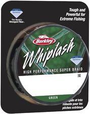 CLEARANCE Berkley WHIPLASH Braid 275 yards / 250 m GREEN 80lb 37.8 kg 0.25 mm
