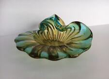 VINTAGE ART DECO, MID CENTURY, HEAVY GLASS ASHTRAY or BOWL, Shell, Murano(?)