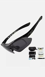 Sireck Sports Sunglasses + 5 Lenses - Polarized Sunglasses - Outdoor Sports