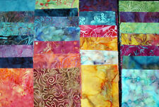 "40 BATIK FABRICS 5"" CHARM SQUARES for Quilt Blocks 2 pieces of each print PRETTY"