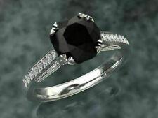 Black Diamond Engagement Ring Most Beautiful Design VVS1/D Fine Jewellery !!