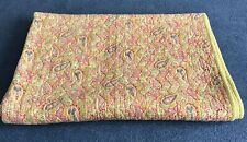 Antique/Vintage Quilt, Yellow Paisley Lovely 82 X 63 Inches.