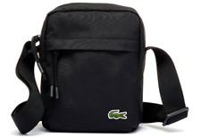 Lacoste 2019 Neocroc Canvas Vertical All Purpose Shoulder Bag Black