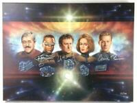 Star Trek The Five Engineers - Canvas Lithograph 55/300 COA 4 Cast Signatures
