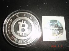 Bitcoin BTC 1 OZ pure  .999 Silver Physical Cryptocoin storage,unfunded