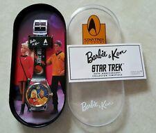 30th Anniversary Collector Barbie and Ken Star Trek Watch  1996