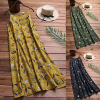 Women Casual Long Maxi Sundress Beach Party Boho Floral Print Dress