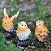 Miniatur Eule Puppenhaus Harz Fee Hausgarten DIY Micro Landschaft