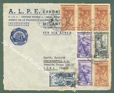 REPUBBLICA ITALIANA. Storia Postale. Frontespizio di aereogramma diretto a Lima