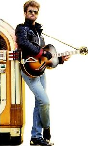 "George Michael-Juke Box with Guitar -72"" Tall Life Size Cardboard Cutout Standee"