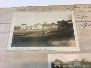 Scrapbook 1921 Washington DC Babe Ruth real photo Yankees Senators Baseball Game