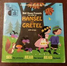 Walt Disney Hansel And Gretel Disneyland Record and Book 317 Near-Mint Condition