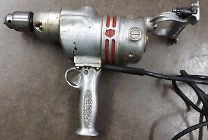 Vintage rare  Milwaukee Heavy Duty Electric Drill C-312 Jacobs Chuck Runs Strong