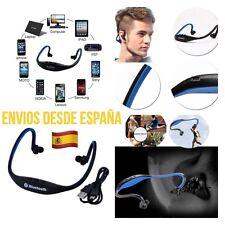 Auriculares Deportivos Bluetooth Manos Libres Micrófono Música Color Azul