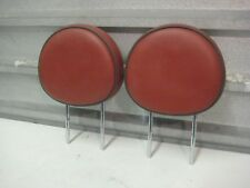 2007-2010 MINI COOPER OEM R55 R56 FRONT HEAD RESTS PAIR RED REDWOOD LEATHER PAIR