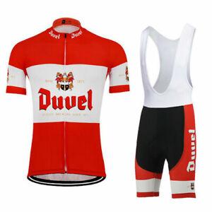 Retro Duvel Beer cycling jersey And Bib shorts sets