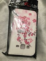 Cover lab - Wallet case with a wristlet strap - Samsung galaxy s5 - Pink & White