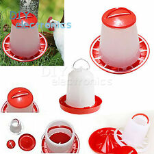 1kg Feeder & 1.5L Drinker Chicken/Poultry/Chick/Hen Food And Water Accesories US