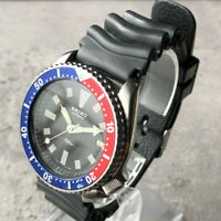 SEIKO DIVER'S 150m 7002-7000 Automatic Pepsi Bezel Men's Watch from Japan #256