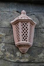 Wandlampe Windlicht Lampe Laterne aus Terracotta Terrakotta - Garten & Innenraum