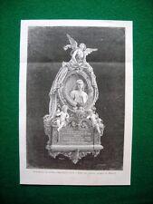 1885 Val di Zoldo nel Cadore - Monumento ad Andrea Brustolon