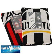 Asciugamano Maxi Juventus Milan Telo Mare Piscina Ufficiale Spugna 90x170cm
