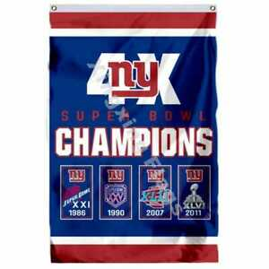 New York Giants Super Bowl Champions Flag 3X5 FT NFL Banner Polyester