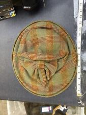 Hatter Tweed ladies Bow Hat by Hunters of Brora Scotland Medium