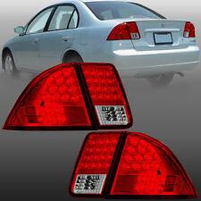 For 2001 2005 Honda Civic 4dr Led Taillights Rear Lamps Assembly Turn Signal Fits 2004 Honda Civic