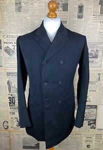 Vintage bespoke Victorian Edwardian short frock coat size 36 38