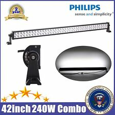 "PHILIPS 42"" INCH 240W LED LIGHT BAR SPOT FLOOD OFFROAD DRIVING LAMP ATV TRUCK 40"