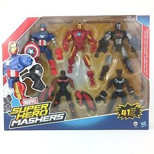 MARVEL Super Hero Mashers 5 Figura Pack - 41 pezzi di Capitan America Iron Man