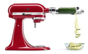 KitchenAid 7 Blade Spiraliser Plus with Peel, Core & Slice Attachment KSM2APC