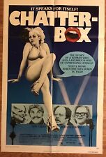 """CHATTERBOX Movie Poster 27""""x41"""" Candice Rialson SEXPLOITATION COMEDY"""