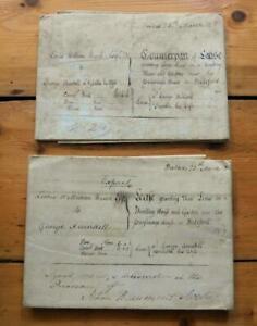 2x Antique Georgian Indentures Documents Dwelling Near Parsonage Bideford Devon