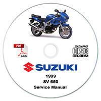 Suzuki SV650 1999 Service Manual CD