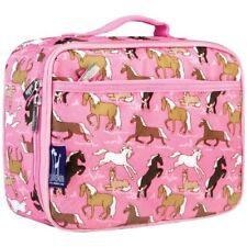 Wildkin Kids Pink Horses Lunch Box