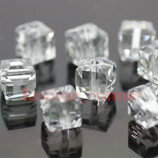 100pcs  8*8mm Square Cube swarovski Style crystal Beads 46 Color U Pick