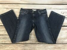 Tommy Hilfiger Womens 6 Short Ultra Low Rise Distressed Flare Jeans Stretch