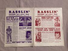 2 Vintage Dallas Texas Wrestling Programs 1960s Championship NWA