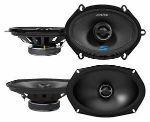 "(2) Alpine S-S57 230 Watt 5x7"" Car Speakers+(2) S-S69 6x9"" 260w Speakers"