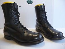Vtg 1966 Vietnam Combat Military USA Black Leather Boots Punk Johnny Depp 10