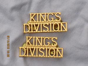KINGS DVISION ,Messing, 1 Paar  Schultertitel