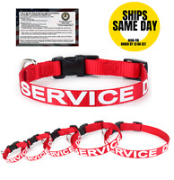 ALL ACCESS K-9 Service Dog Collar Canine Adjustable Red Reflective Buckle XS-XL