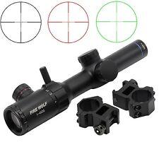 New Tactical Sights 1-4x20 Red Green Dual illuminated Optical Gun Rifle Scope